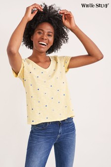 White Stuff Yellow Summer Fruits Jersey T-Shirt