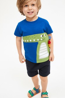 Appliqué T-Shirt And Shorts Set (3mths-7yrs)