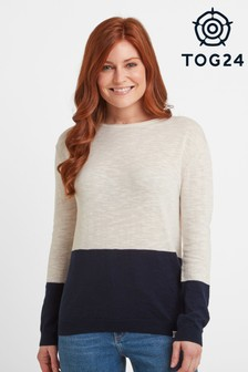 Tog 24 Blue Derella Womens Placement Stripe Jumper