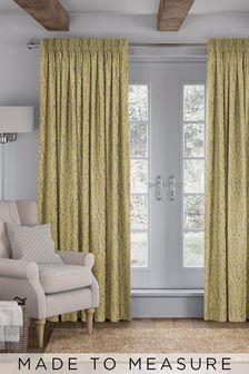 Bijou Sunflower Gold Made To Measure Curtains