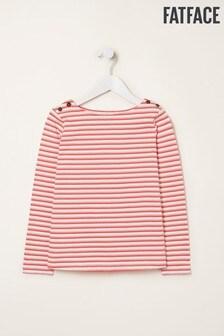 FatFace Pink Two Colour Breton T-Shirt
