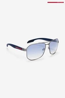 Prada Sport Gunmetal Rubber Sunglasses