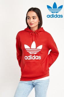 adidas Originals Red Trefoil Overhead Hoody