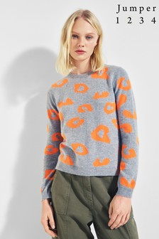 Mix/Jumper Grey 1234 Bright Leopard Jumper
