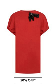 N°21 Girls Red Cotton Dress