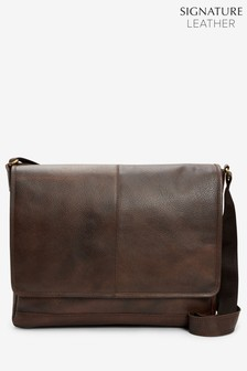cb502dcb660f Signature Leather Messenger
