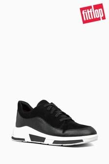 FitFlop™ Black Freya Suede Sneaker
