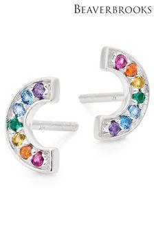 Beaverbrooks Cubic Zirconia Rainbow Earrings