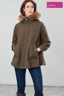 Joules Khaki Carolyn Swing Coat