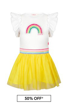 Billie Blush Girls White Dress