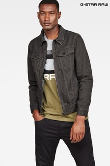 G-Star Dark Wash Zip Slim Jacket