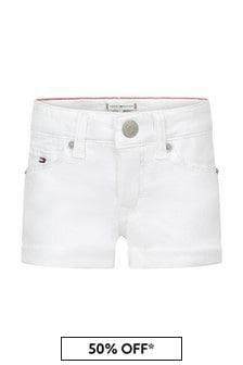 Tommy Hilfiger White Cotton Shorts