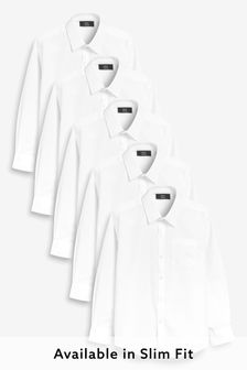 5 Pack Long Sleeve Shirts (3-16yrs)