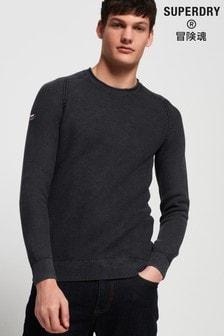 Superdry Garment Dyed L.A Textured Crew Jumper