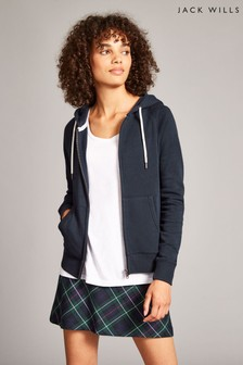 Jack Wills Navy Ivy Raglan Zip Through Jacket