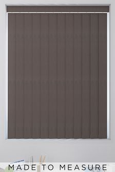 Canvas Chocolate Brown Made To Measure Vertical Blind