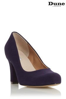 Dune London Ashen Navy Comfort Mid Block Heel Court Shoes