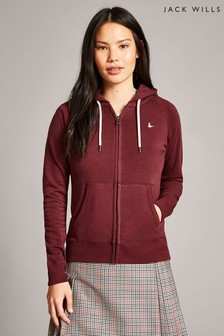 Jack Wills Damson Ivy Raglan Zip Through Jacket