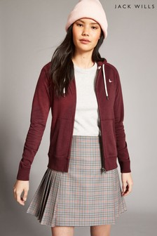 Jack Wills Pink Ivy Raglan Zip Through Jacket