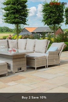 Cotswolds Reclining Corner Dining Set By Maze Rattan