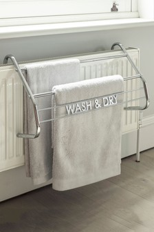 Chrome Over Radiator Towel Rack