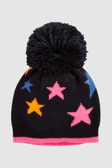 Star Print Pom Hat