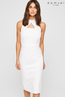 Damsel In A Dress Ivory Americano Halter Dress