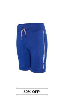 Karl Lagerfeld Boys Blue Cotton Shorts