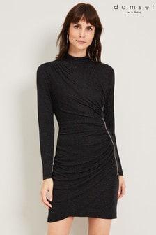 Damsel In A Dress Black Irise Sparkle Dress