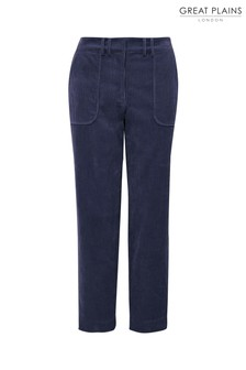 Great Plains Blue Varda Cord Trousers