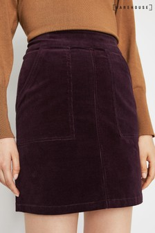 Warehouse Purple Cord Patch Pocket Mini Skirt