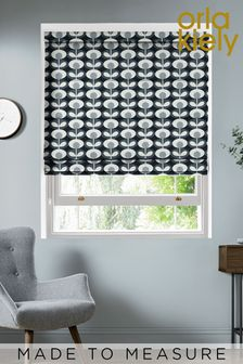 Oval Flower Cool Grey Made To Measure Roman Blind by Orla Kiely