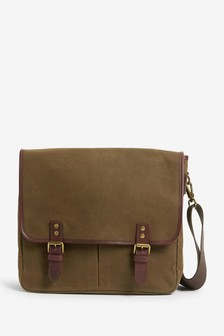 Signature Waxed Canvas & Leather Messenger