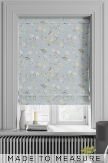 Grange Forget Me Not Blue Made To Measure Roman Blind