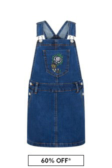 Zadig & Voltaire Girls Blue Cotton Dress