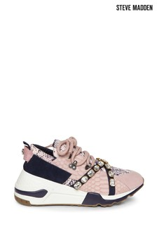 Steve Madden Blush Snake Credit Chunky Trainers