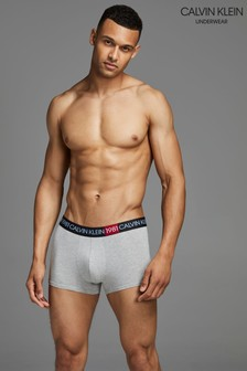 Calvin Klein Grey 1981 Bold Cotton Trunks