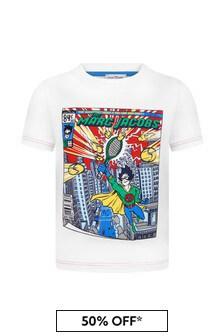 Marc Jacobs Boys White Cotton T-Shirt