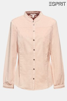 Esprit Pink Long Sleeved Stretch Corduroy Blouse