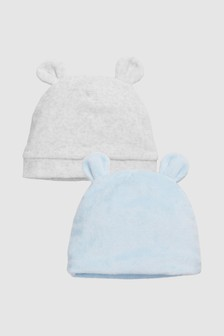 Bear Ear Hats Two Pack (0mths-2yrs)