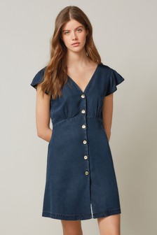 TENCEL™ Button Through Dress