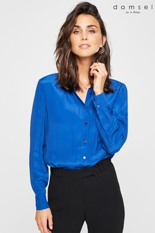 Damsel In A Dress Blue Donelle Chain Detail Shirt