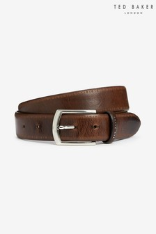 Ted Baker Brown Class Brogue Detail Leather Belt