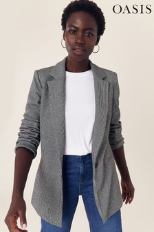 Oasis Natural Puppytooth Ponte Jacket