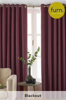 Moon Blackout Eyelet Curtains by Furn