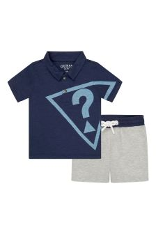 Guess Baby Boys Blue Cotton Set