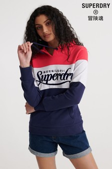 Superdry Premium Logo Colourblock Brushed Hoody