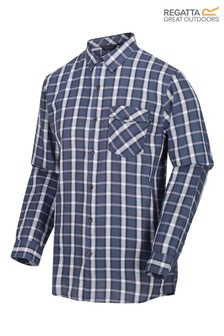 Regatta Blue Check Lonan Long Sleeve Shirt