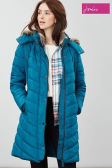 Joules Cherington Longline Padded Coat Detachable Hood