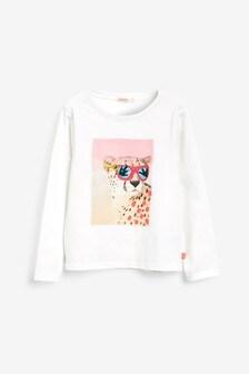 Predĺžené tričko Billieblush s Lleopardom